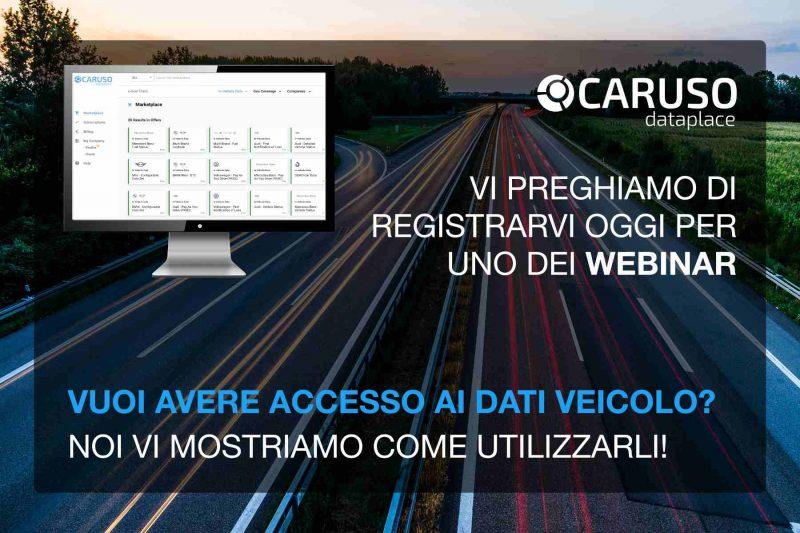 Accesso dati telematici OEM: i webinar gratuiti della piattaforma CARUSO