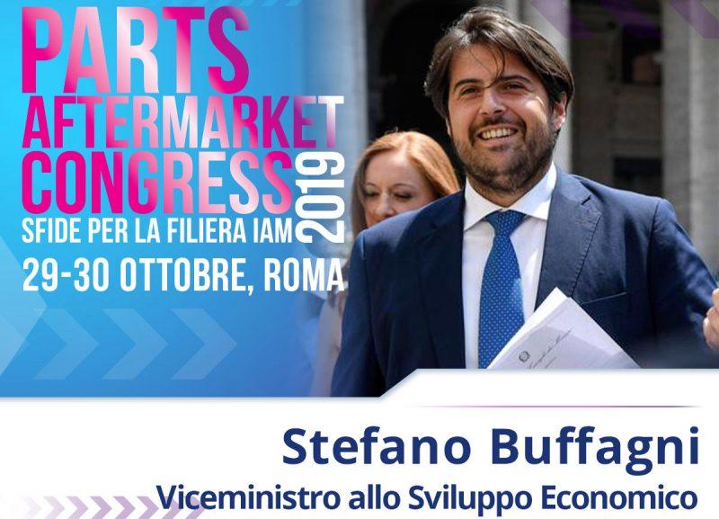 Il Viceministro allo Sviluppo Economico, Stefano Buffagni al Parts Aftermarket Congress