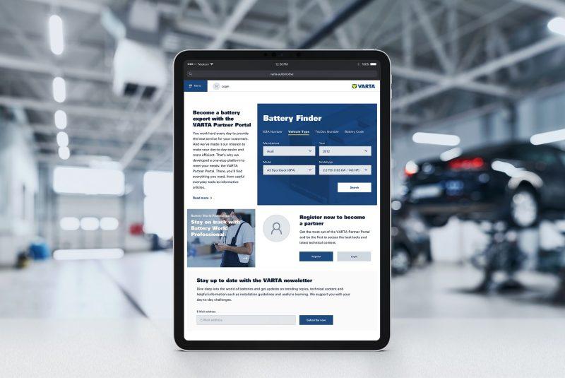 Batterie: nuova e ottimizzata versione del VARTA Partner Portal