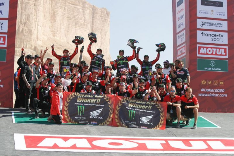Vittoria del team Monster Energy Honda in Arabia Saudita alla Dakar 2020