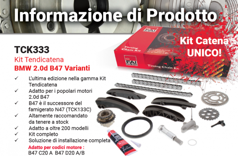 FAI: nuovo Kit Catena UNICO TCK333 per BMW B47