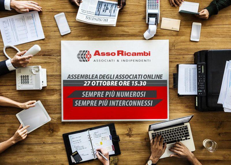 Asso Ricambi: torna l'assemblea associati online il 27 ottobre