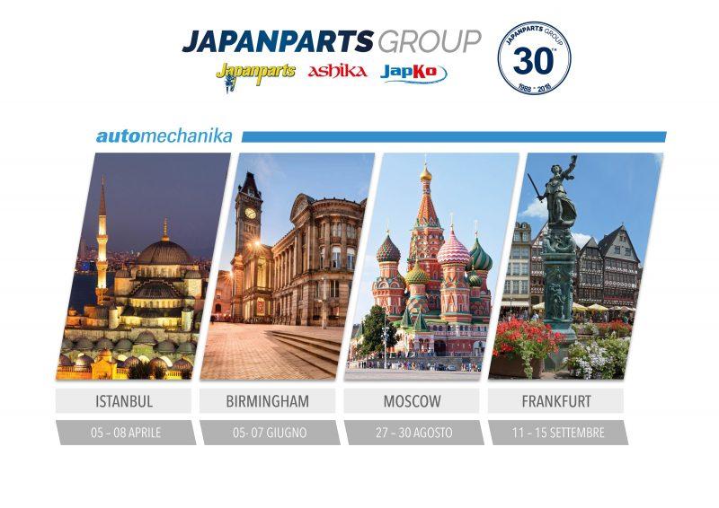 Japanparts Group festeggia i 30 anni di attività e partecipa alle principali fiere di settore