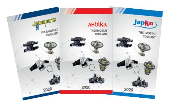 Japanparts: disponibili i cataloghi della gamma Valvole Termostatiche