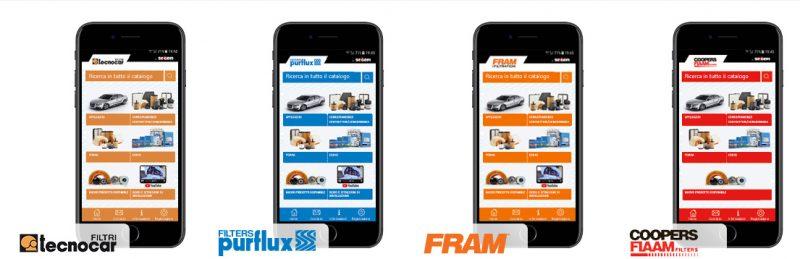 Nuove funzionalità sulle app aftermarket Sogefi per smartphone e tablet