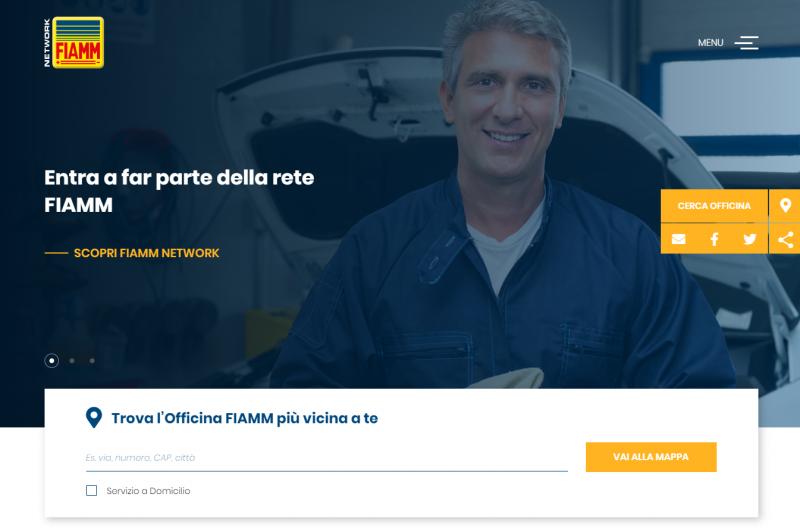 Nuovo sito FIAMM Network e servizio sostituzione batteria a domicilio