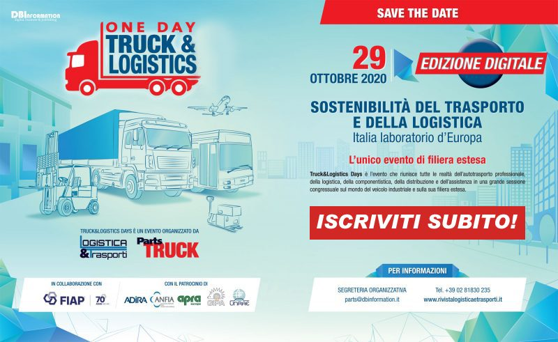 Iscriviti subito al One Day Truck&Logistics 2020 Digital Edition