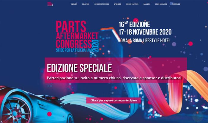 Parts Aftermarket Congress: edizione speciale 2020