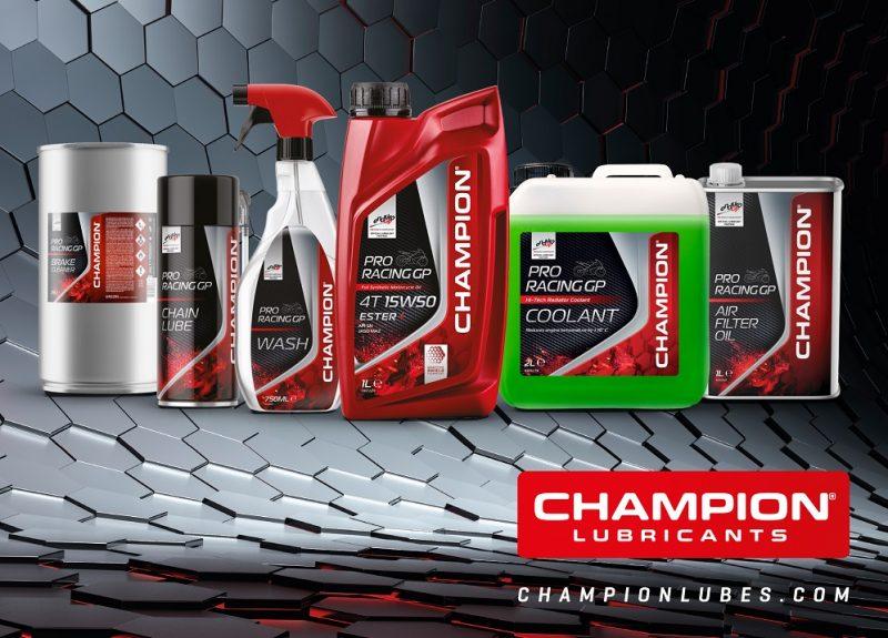 Moto: linea completa Champion di lubrificanti, fluidi  e prodotti pulizia per la manutenzione pre-stagionale