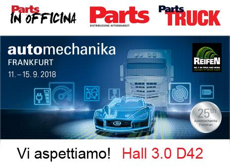 Parts, Parts In Officina, Parts Truck vi aspettano ad Automechanika Frankfurt