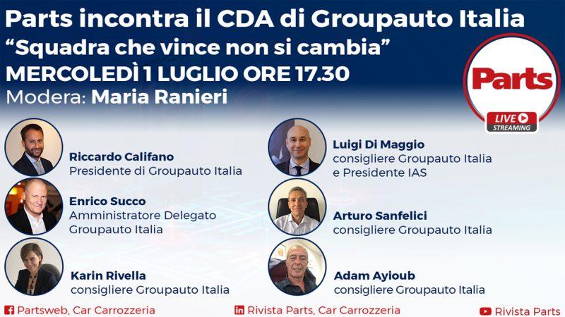 """Groupauto Italia in Diretta con Parts: """"Squadra che vince non si cambia"""" domani alle 17.30"""