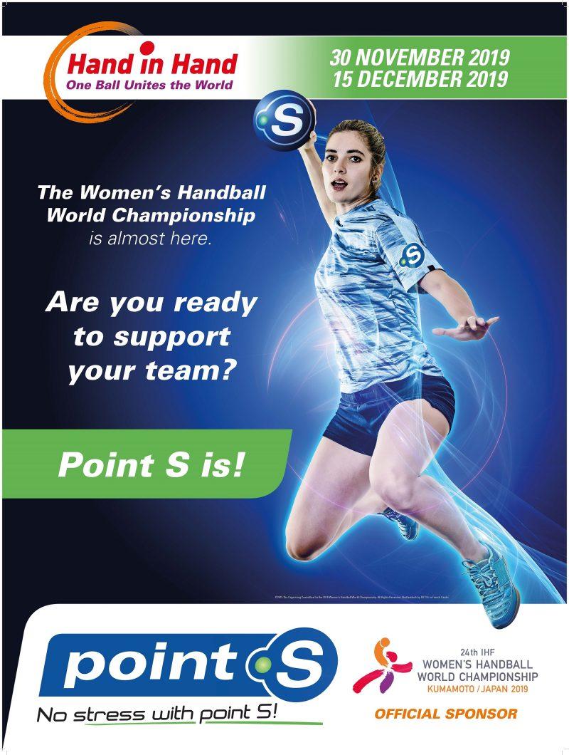 Point S è sponsor dei campionati mondiali di pallamano femminile