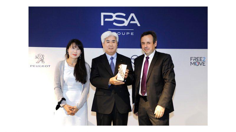 KYB insignita del premio per l'eccellenza nella fornitura da PSA