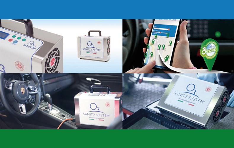 Sanificazione auto: certificata l'efficacia dei dispositivi ad ozono Sanity System contro il covid