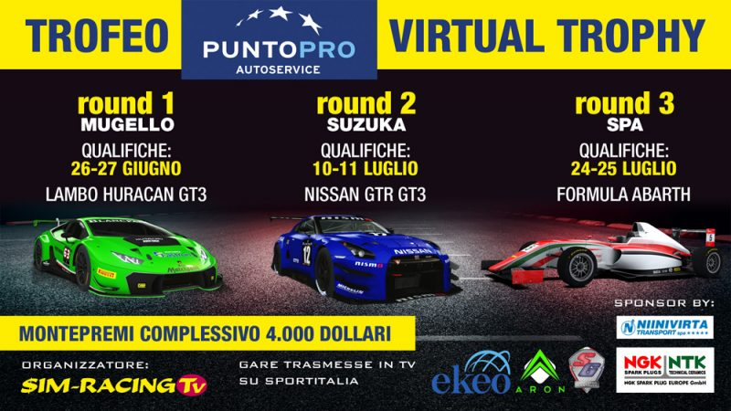Trofeo PuntoPRO Virtual Trophy: protagonista dell'estate 2020, il calendario completo