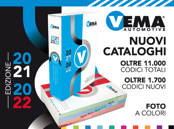 VEMA: nuovi cataloghi 2021-2022 con oltre 1700 nuovi codici