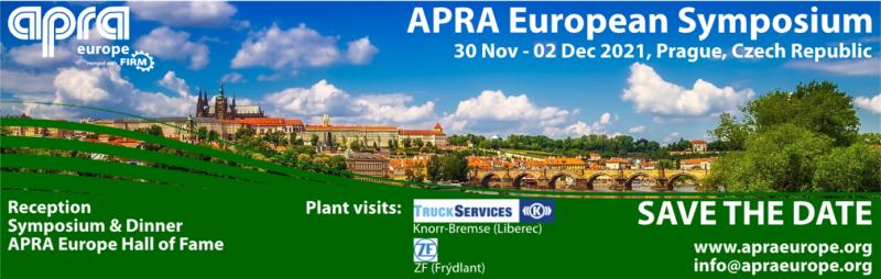 Ricambi rigenerati: Simposio APRA a Praga dal 30 novembre al 2 dicembre