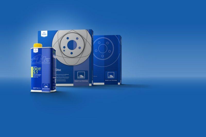 Freni auto: nuovo packaging per i prodotti ATE