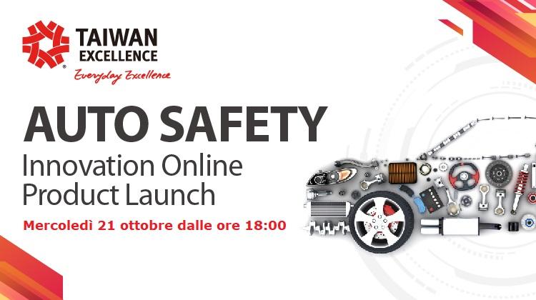 """Sicurezza auto e componentistica al centro del """"Taiwan Excellence Online Product Launch"""""""