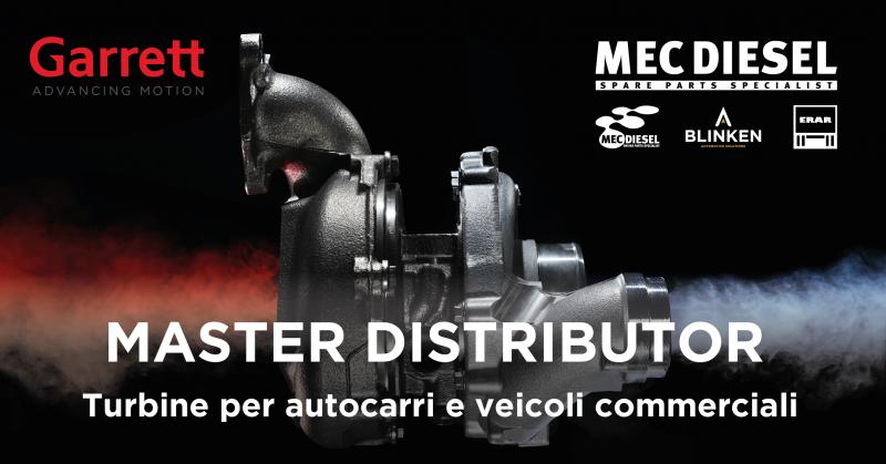 Mec-Diesel diventa Master Distributor Garrett in Italia