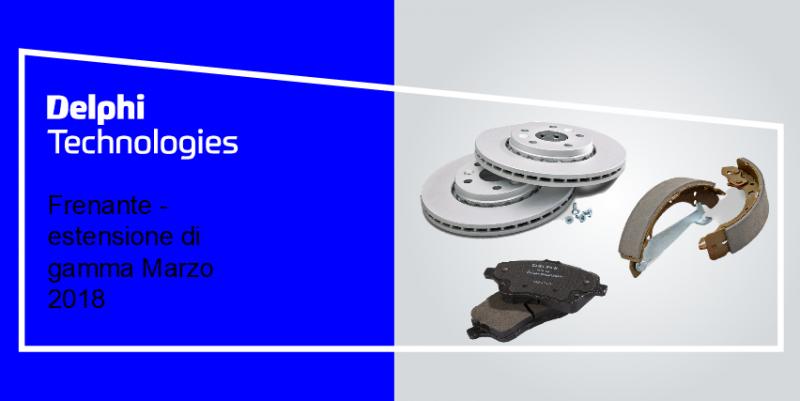 Delphi Technologies: estensione gamma frenante