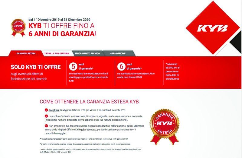 KYB lancia la Garanzia Estesa sui propri ricambi