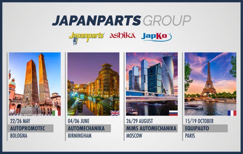 Japanparts Group partecipa alle principali fiere di settore