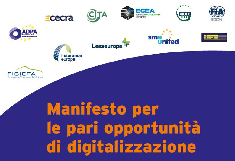 Manifesto per eque opportunità di digitalizzazione