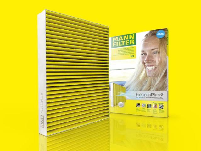 MANN-FILTER FreciousPlus migliorato: il nuovo standard dei filtri abitacolo