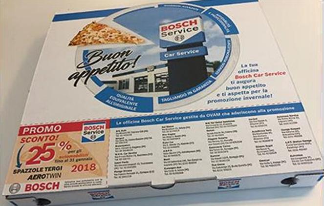 La pizza protagonista della campagna Bosch Car Service by OVAM