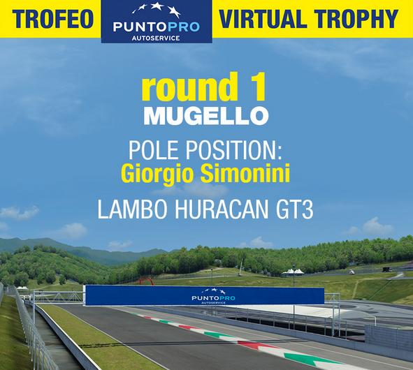 Trofeo PuntoPro Virtual Trophy: Sabato 4 Luglio primo Round a Mugello